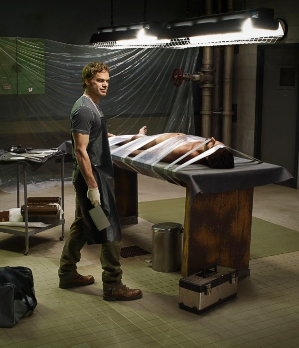 Michael C. Hall as Dexter, as photographed by Jim Fiscus. This image won in the Photography for Print category at the Promax/BDA Design Awards.