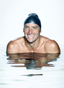 From a campaign for Enel, which sponsored a team of Italian world-champion swimmers. Photograph by Fulvio Bonavia.
