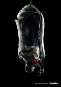 Ad for the Yamaha XJ6. Photograph by Fulvio Bonavia.