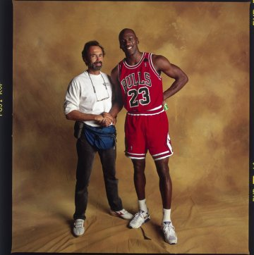 "Walter Iooss and Michael Jordan, Chicago, 1991. ""You don't have to perform for Walter. He is an artist looking for a shot, usually one that only he can see,"" says Jordan. ""And that's the thing about genius. It's often only obvious after the fact."""
