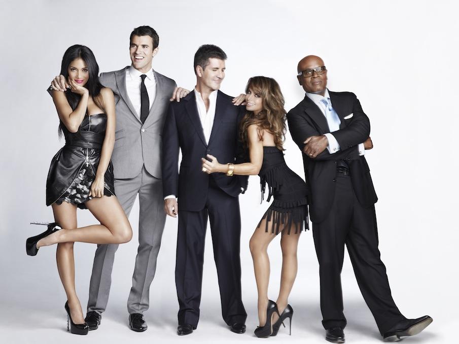 X Factor Judges 2011 Names From left Nicole Scherzinger
