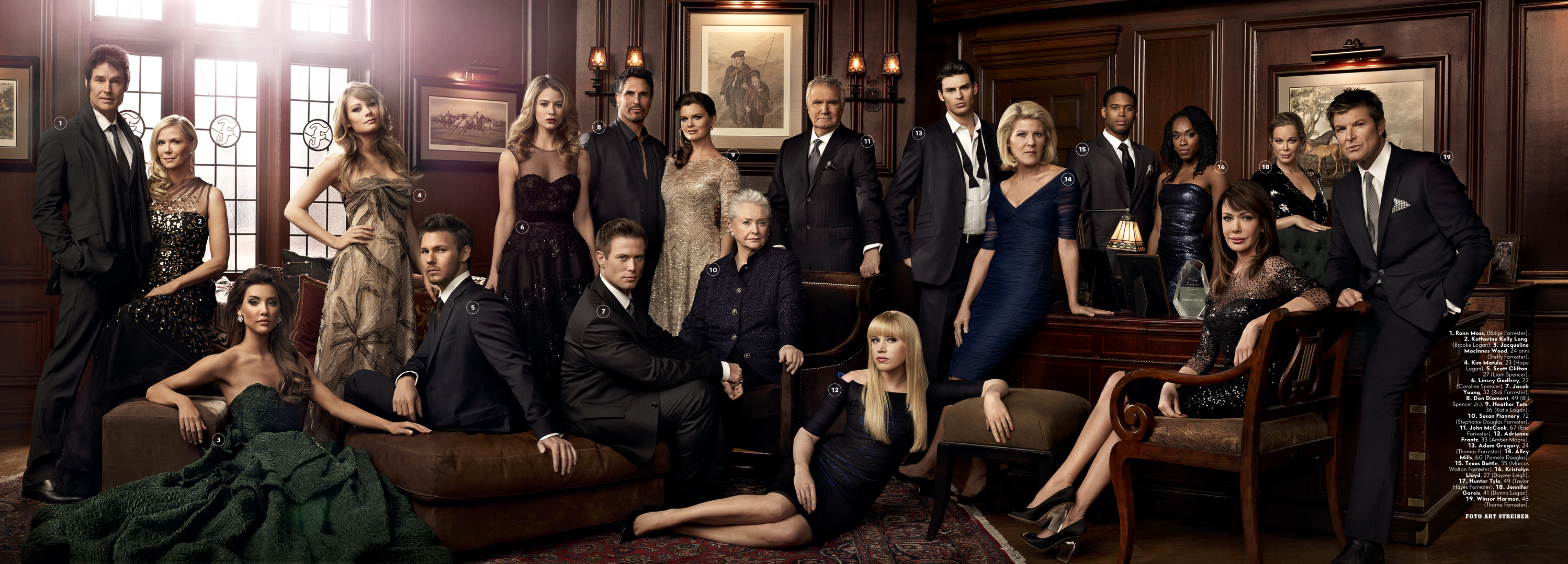 The cast of the bold amp the beautiful photo by art streiber for