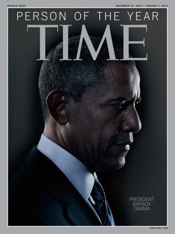 President Barack Obama photographed by Nadav Kander for Time magazine's 2012 Person of the Year issue.