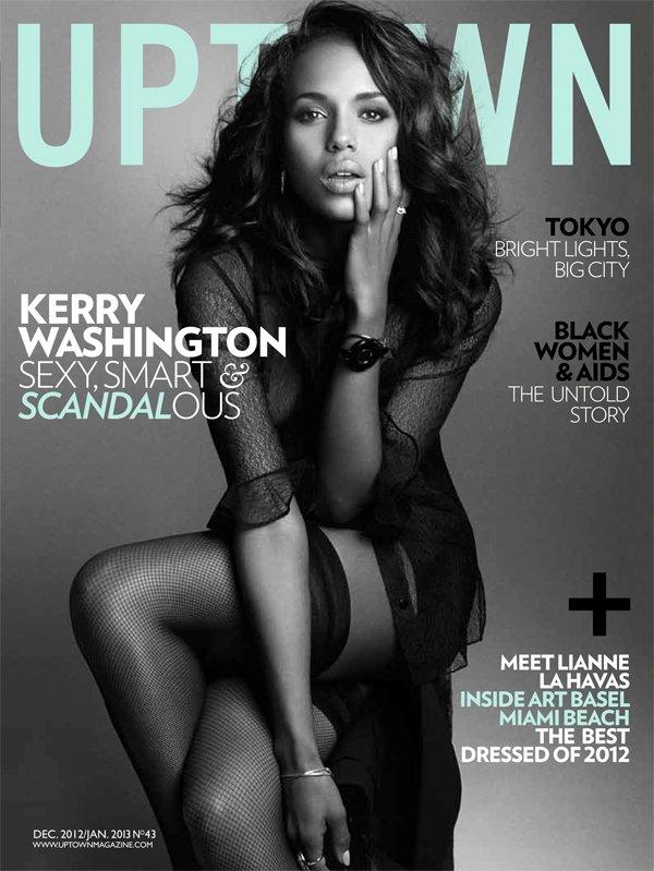 Kerry Washington as photographed by Nino Muñoz for Uptown magazine, December 2012 issue.