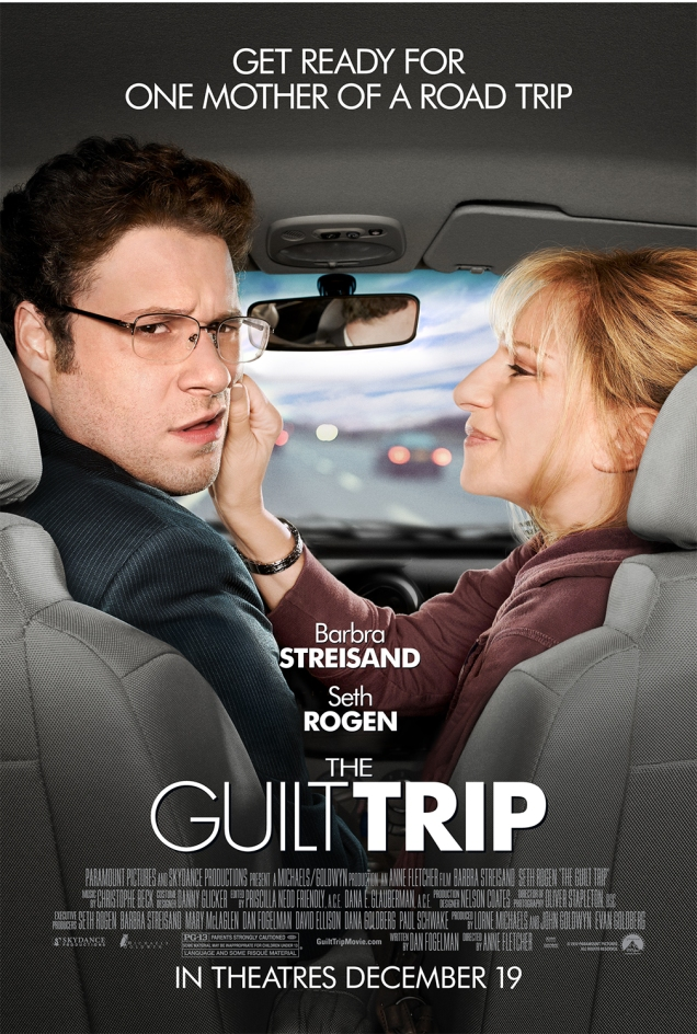 "The poster for ""The Guilt Trip,"" starring Barbra Streisand and Seth Rogen. Photo by Art Streiber."