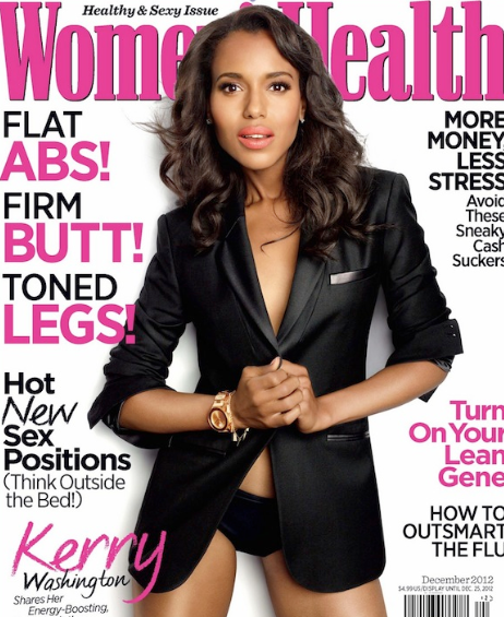 Kerry Washington as photographed by Jeff Lipsky for Women's Health, December 2012 issue.