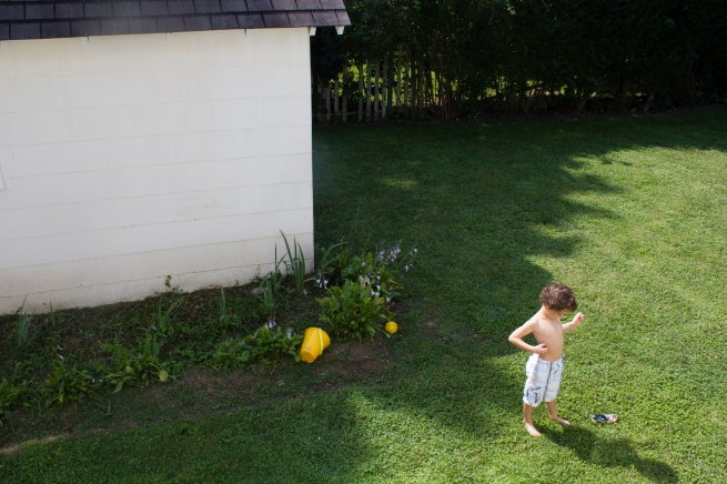 """Rockwell on the lawn. Photo by Melanie Acevedo from Week 35 of her personal series """"52 Weeks."""""""