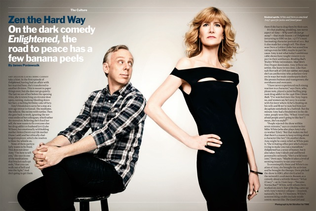Mike White and Laura Dern. Photo by Art Streiber for Time, tk date issue.