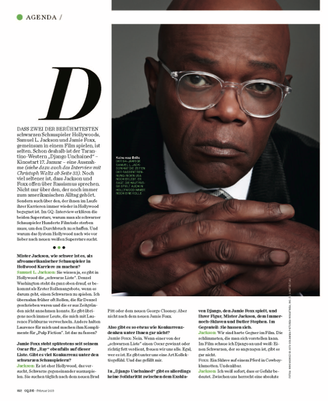 Samuel L. Jackson. Photo by Nino Muñoz for Sony PIctures.