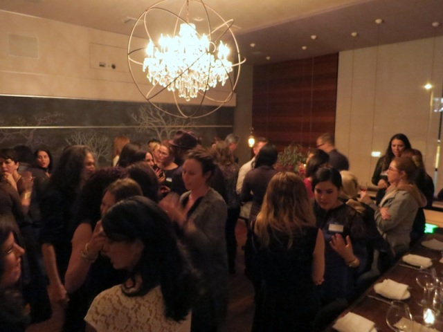 A big turnout for our dinner at the Tasting Kitchen.