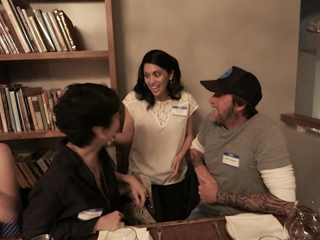 Steven and fellow Stockland Martel photographer Melanie Acevedo with Marni Cohler Cabayasa of TBWA\Chiat\Day.