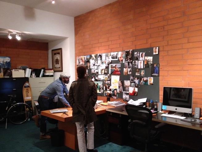 Maureen and Jeff Lipsky at Jeff's studio in Santa Monica.