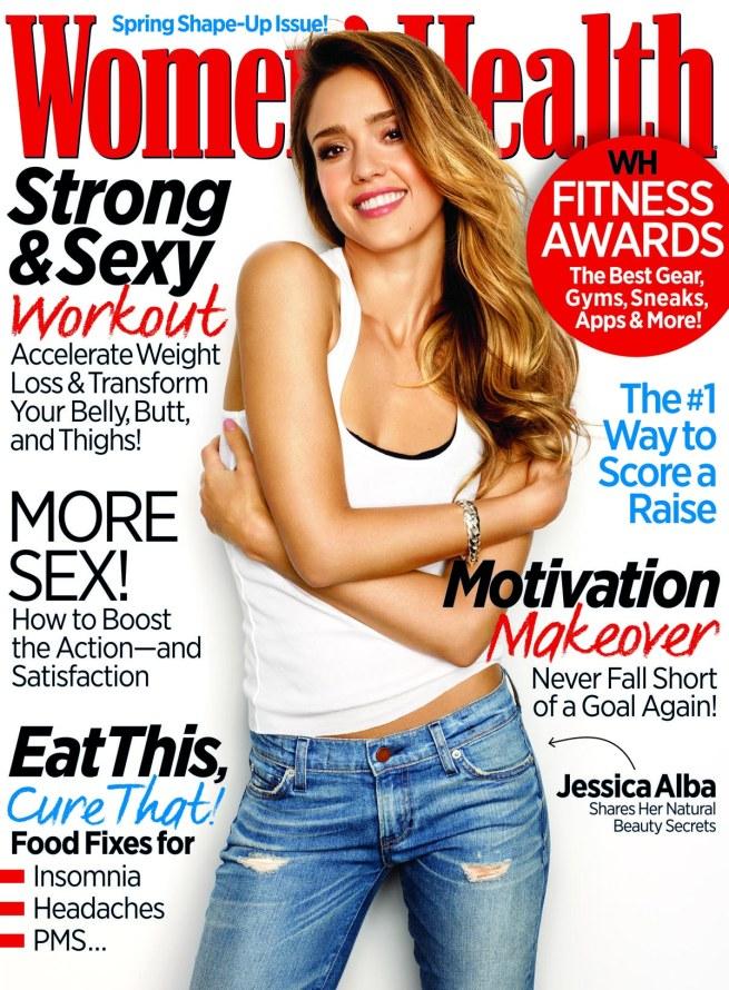 Jessica Alba. Photo by Jeff Lipsky for Women's Health, March 2013.