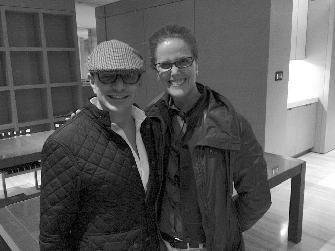 Matthew Rolston and Maureen at Matthew's West Hollywood studio.