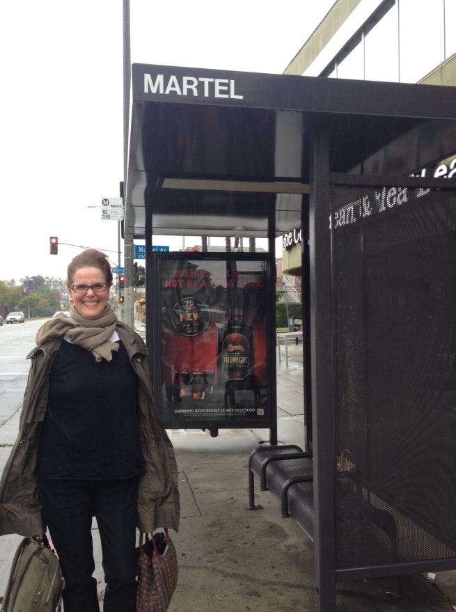 Maureen at Martel Avenue, on her way to a meeting at RSA Films.