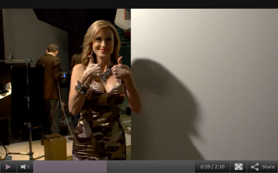 Korie Robertson, as seen in a still from the behind-the-scenes video