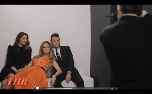 Click on the still to watch scenes from Art Streiber's shoot with Jennifer Lopez, Mariel Haenn, and Rob Zangardi.