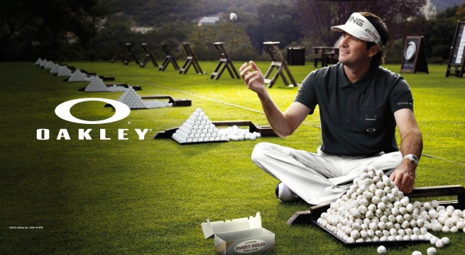 Bubba Watson in a new ad campaign for Oakley. Photo by Art Streiber for Factory Labs.