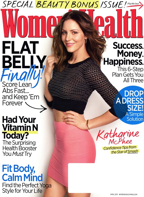 Katharine McPhee photographed by Jeff Lipsky for Women's Health, April 2013 issue.
