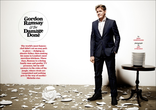 Art Streiber photographs Gordon Ramsay for Men's Journal