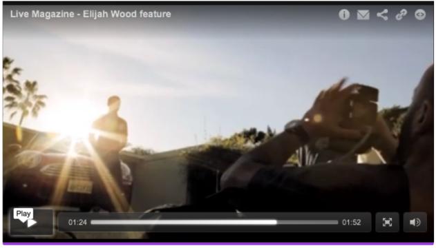 Click screenshot to view Michael Muller's short video featuring Elijah Wood and his Mini Cooper.