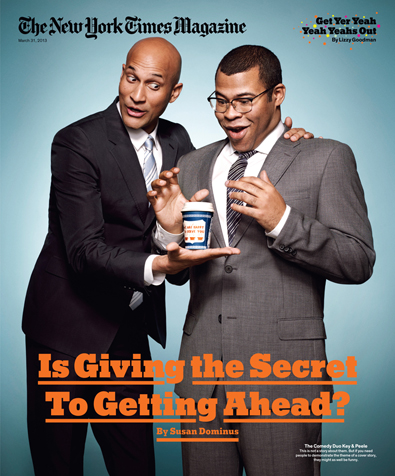 Keegan-Michael Key and Jordan Peele, a.k.a. Key and Peele, photographed by Art Streiber for The New York Times Magazine, March 31, 2013, issue.