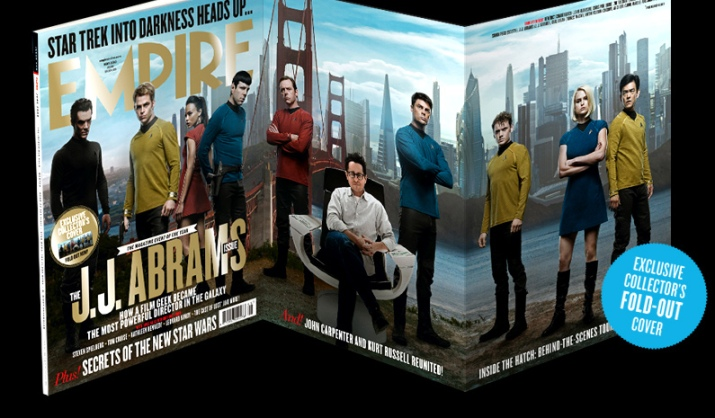 Art's cast portraits on the fold-out cover of Empire magazine's J.J. Abrams issue.