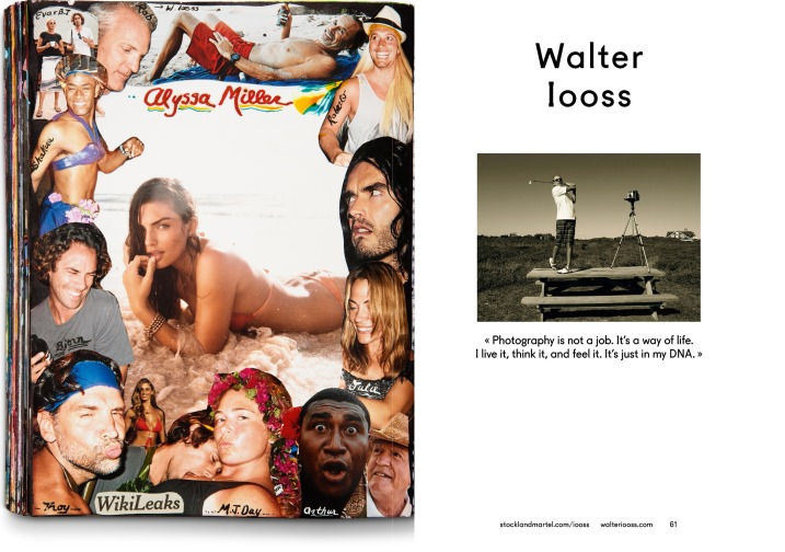 Walter Iooss' opening spread in SMart Book 2013.