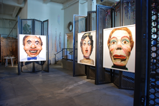 "Installation view. Six portraits from ""Talking Heads"" were printed for the party, each one 5 feet square. Photo © R-ROLL/MRPI, 2013. All rights reserved."