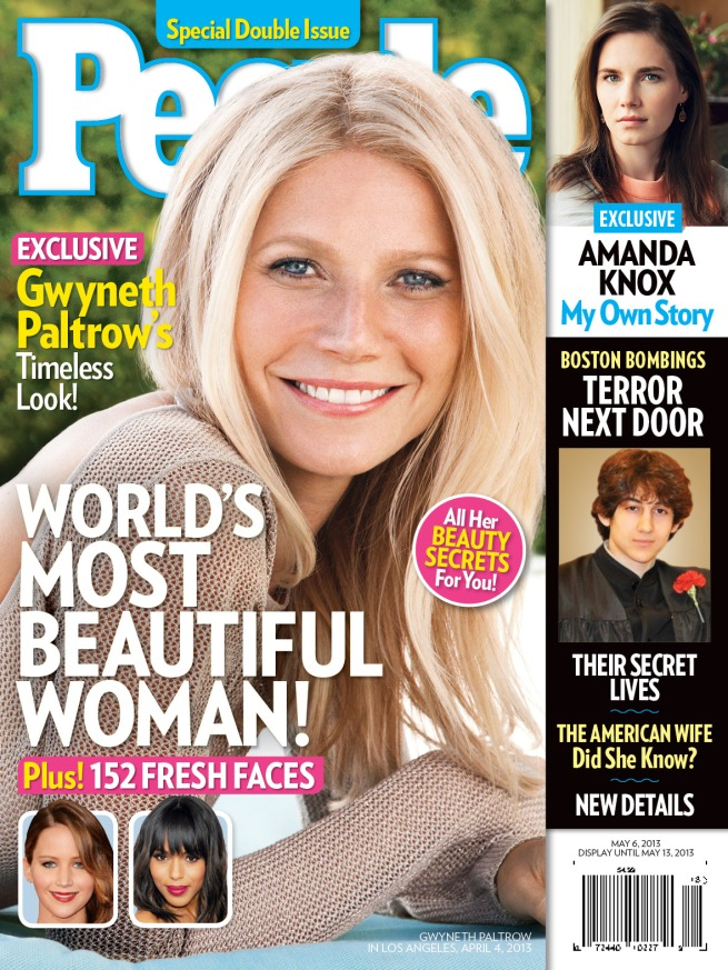 "Gwyneth Paltrow, the ""World's Most Beautiful Woman."" Photo by Nino Muñoz for People."