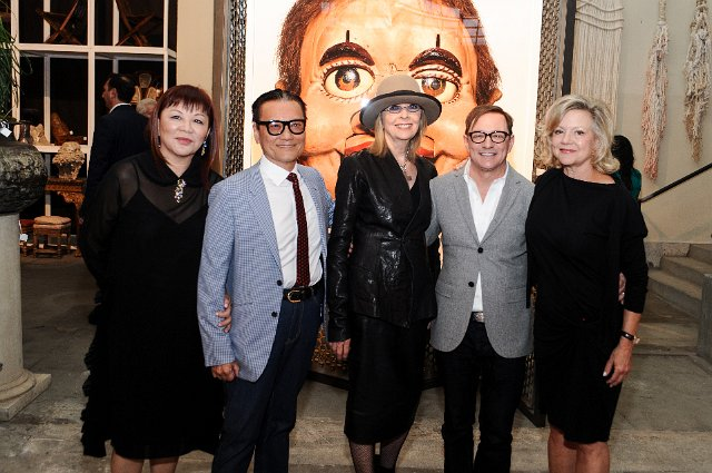 Matthew with (from left) Margaret Chen, Joel Chen, Diane Keaton, and Kay Saatchi. Photo by Stefanie Keenan.