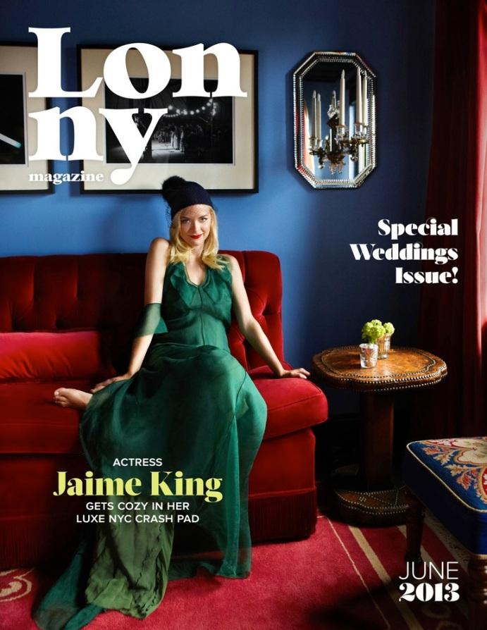 Jaime King. Photo by Melanie Acevedo for Lonny, June 2013 issue.