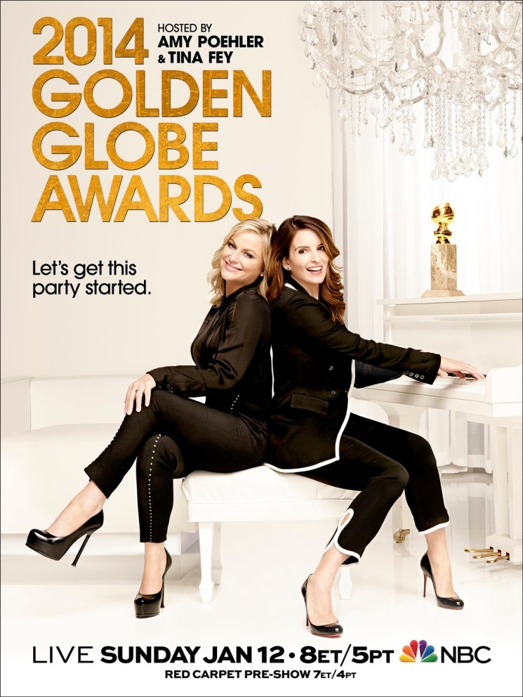 Amy Poehler and Tina Fey, hosts of the 71st Annual Golden Globe Awards. Photo by Art Streiber for NBC.