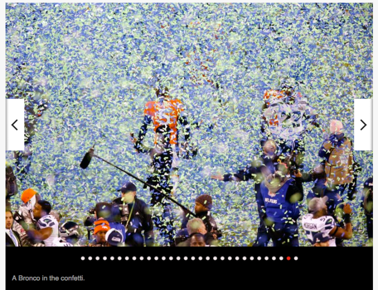 Walter Iooss_Super Bowl confetti