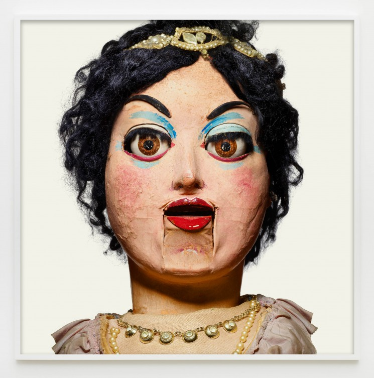 "Matthew Rolston, ""Noisy Crachini,"" from the series ""Talking Heads,"" pigment print, 60 x 60 inches (framed view). © Matthew Rolston Photographer, Inc./courtesy Diane Rosenstein Fine Art."