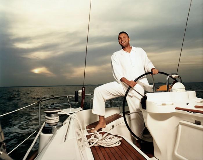 Walter Iooss_Derek Jeter boat