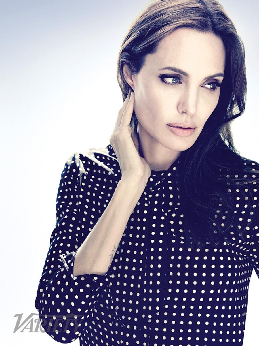 "Angelina Jolie Look Using All Drugstore Makeup: Art Streiber Photographs ""Unbroken"" Director Angelina"