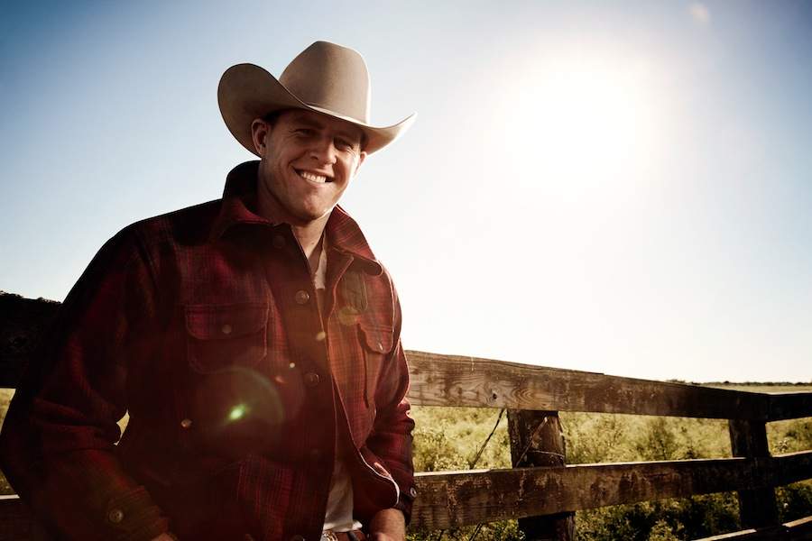 Football player J.J. Watt is in a Texas state of mind for