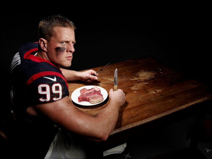 Art Streiber_JJ Watt steak