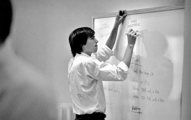Steve Jobs Outlining the Digital Revolution.  Sonoma, California, 1986.