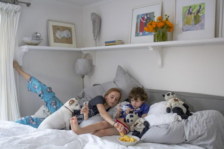 Melanie Acevedo_Rocky and Violet in bedroom