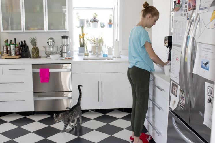 Melanie Acevedo_Violet in kitchen