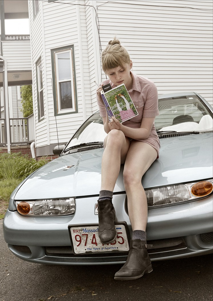 Guzman_Virgin Suicides woman on car