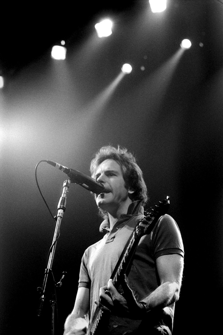 The Grateful Dead perform at San Francisco Civic Auditorium December 31, circa 1984, with deadheads and Bill Graham.