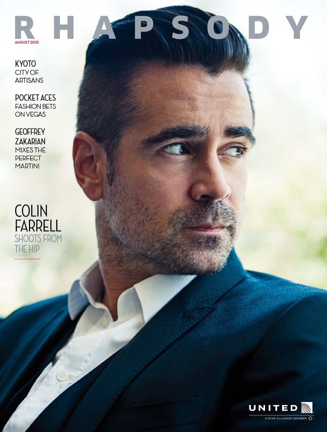 Michael Muller photographs actor Colin Farrell for Rhapsody ...