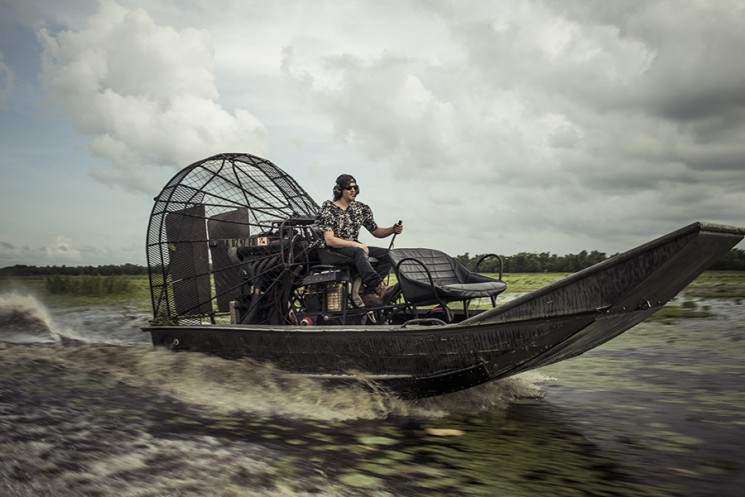 Michael Muller_Norman Reedus_airboat