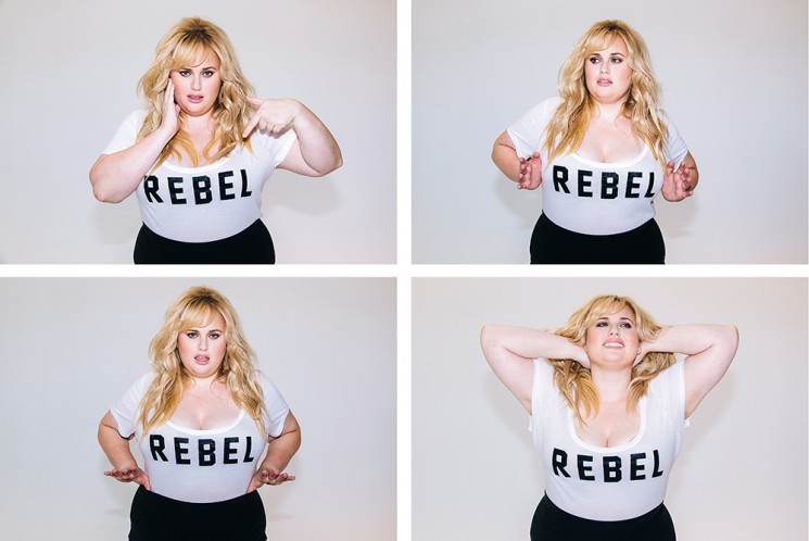 Actress and comedian Rebel Wilson has a new clothing and accessory line out soon. She poses for a portrait in items from the collection at Milk Studios in Los Angeles, California September 30, 2015.