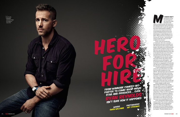 Ryan Reynolds. Photo by Art Streiber for Empire.