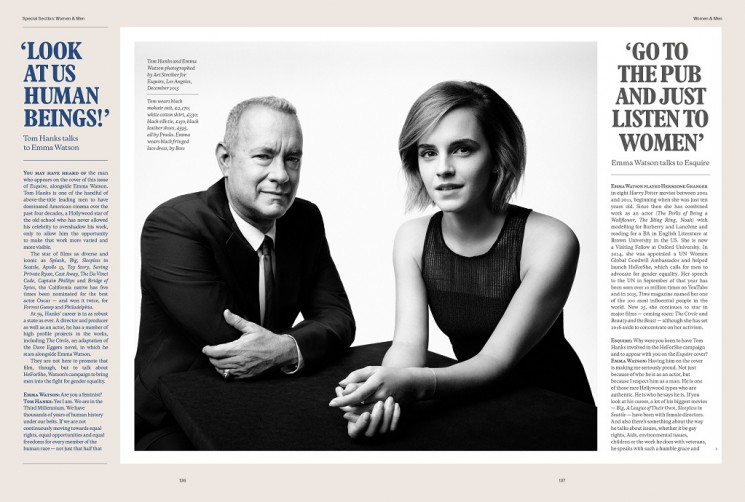 Art Streiber_Tom Hanks and Emma Watson 1
