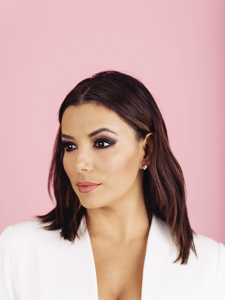 Actress, director and producer Eva Longoria poses for a portrait at the Lanham Huntington Hotel in Pasadena, California January 13, 2016. Photo by Brinson+Banks